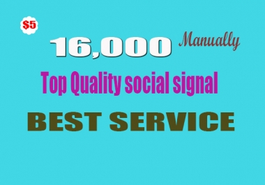 16,000 High Quality seo Social Signals from the Best Social Media Website