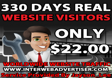 11 Months Web Traffic To Your Website, Blog or Affiliate Link