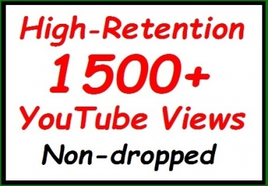 1000+ to 1200+ YouTube Veiws fully safe ranking video, non-dropped guaranteed