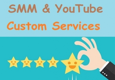 Number 1, Custom Services and Social Media, YouTube Consultation just