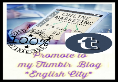 Post to my Tumblr Blog with real audience from USA, Canada, Australia and United Kingdom