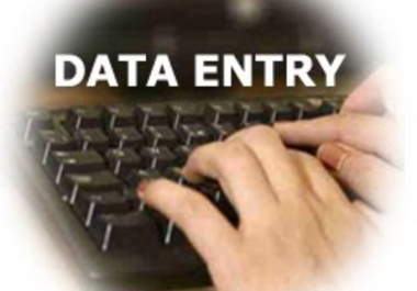 DATA ENTRY, Any Data Handling Work Or Data Editing Work
