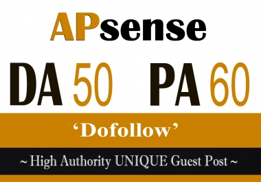 Write and Publish A Guest Post Apsense DA50 Do f0llow Backlink