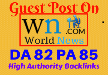 Do Write Article and Publish Guest Post on WN COM