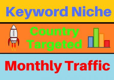 Keyword Targeted Website Traffic Niche Based Monthly