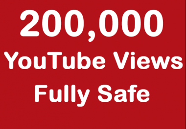 200000 or 200k or 200,000 YouTube views