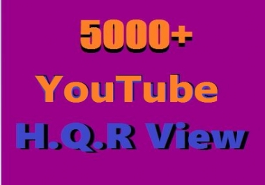 Instant YouTube Video Promotion 5000+ H.Q.R  VU Supper Fast Delivery