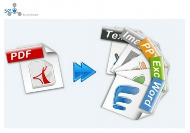 50 Page PDF Document Convert to Ms Word, Ms Excel within 72 hours. for $25