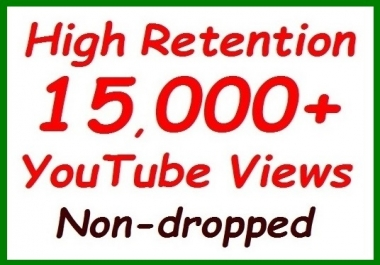 10,000+ to 12,000 YouTube Veiws fully safe+300 video hits extra all non-dropped guaranteed