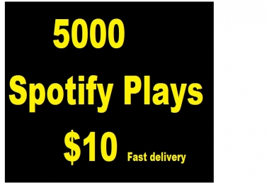 5000 STREAMS TO YOUR TRACK