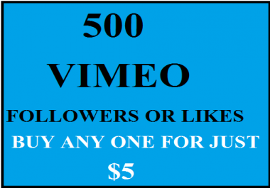 vimeo followers OR likes