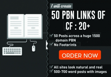 Active 50 PBN backlinks with an Awesome Metrics