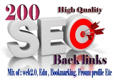 Create 200 Backlinks On High Pr Da Sites