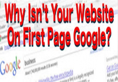I will do Shoot Your Site Into TOP Google Rankings With My SEO Package