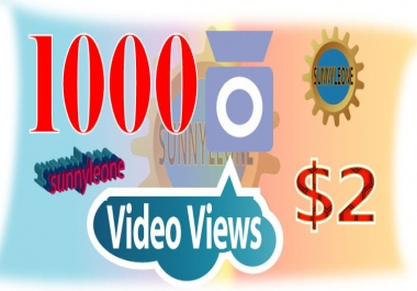 Give you 1000 video views Or 1000 Photo Likes