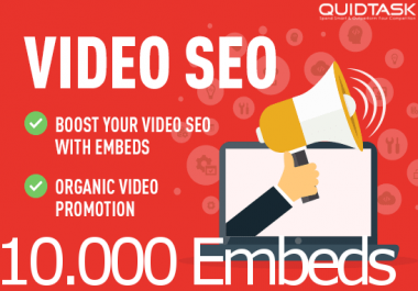 Get 10,000 YouTube Embeds and Signals on 1000 Blogs and 50 PR9 Social Sites for your video