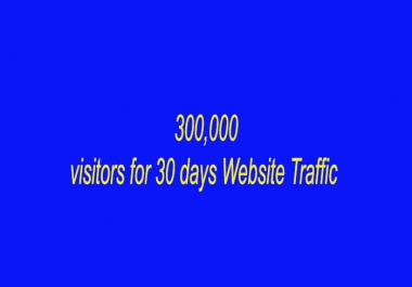 Will send 300,000 visitors for 30 days Website Traffic