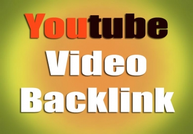 Top Youtuve Video backlink High Quality and 2 hour delivery