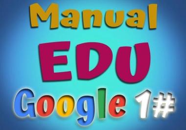 Manual 15 EDU backlink Rank for gooogle
