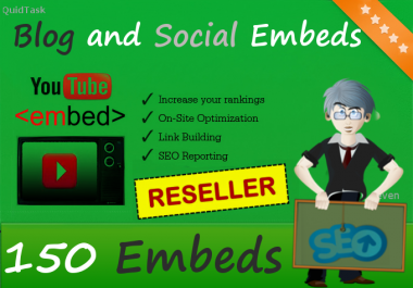 Reseller offer - 150 YouTube Video Embeds