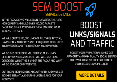 SEM Boost - Rocket Your Tier 2 Backlinks, Get Signals and Video Creation that bring TRAFFIC