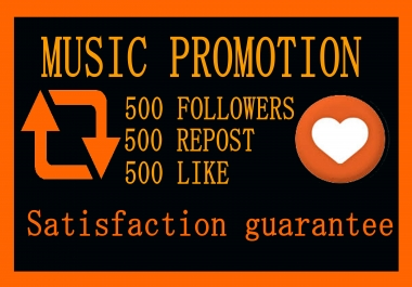 Music Promotion 500 Like Or 500 Repost Or 500 Followers Or Or 200 HQ Comments Best Quality Of My Service