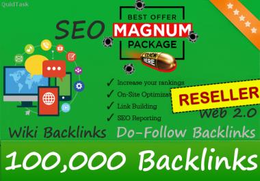 Reseller offer - 100,000 Do-Follow Backlinks - Magnum Power