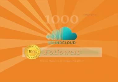Get 250+ real and active Soundclud  followers