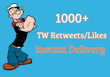 1000+ TW Retweets Or Likes Instant Delivery