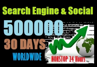 500000 Web Traffic Worldwide from Social Media and Search Engine