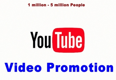 Perform Massive YouTube Video Promotion - Shout-Out YouTube Video On Social Media Reaching Over 1,000,000 To  3,000,000 Video Addict Human Audience - 24 hrs Speedy Delivery !!!!