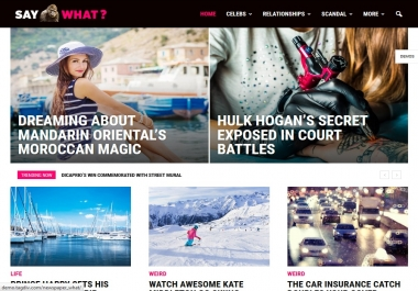 Design Wordpress Blog, News, Magazine Website