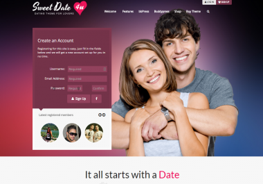 Design Membership Dating Community Website