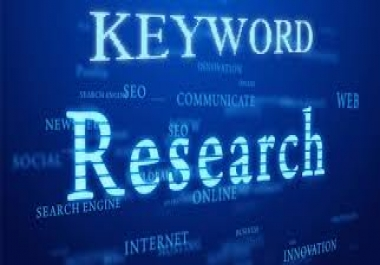 Provide You Manually 20 keywords Research