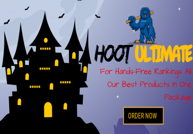 HOOT Ultimate - All Our Services in One Package - Signals, Bookmarks, Backlinks, Traffic, Promotion, Video Creation, Views - Hands Free SEO -
