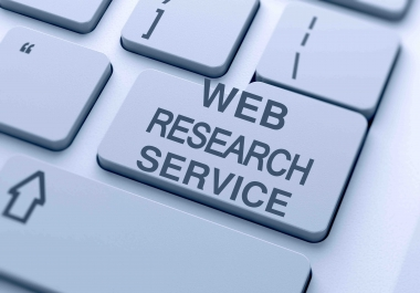 Do any web based research and lead generation