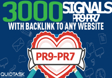 Build 3000 Social Signals - Powerful SERP, SEO and Traffic Boost campaign for your website