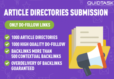 ARTICLE DIRECTORIES SUBMISSION TO BOOST YOUR SEO