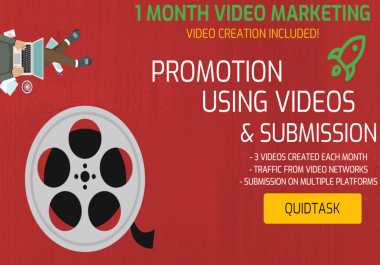 CREATE 3 VIDEOS MONTHLY FOR YOUR WEBSITE - MONTHLY VIDEO MARKETING & SEO - BRING TRAFFIC AND INCREASE YOUR RANK WITH VIDEOS