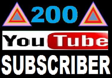Instant 200 Youtube subscriber with very fast