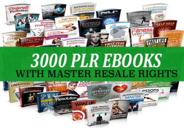 3000 Plr Ebooks With Master Resale Rights for $5