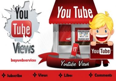 5000 HR Real and Safe YouTube Views + 500 like bonus