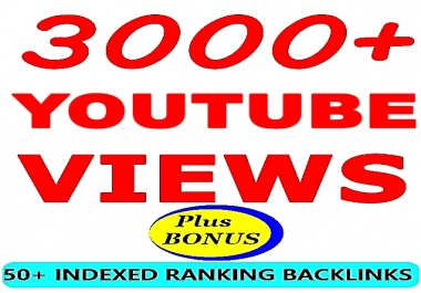 3000+ YOUTUBE Non-Drop VIE WS -BONUS 50+ Ranking Backlinks -Limited Time Offer ORDER NOW