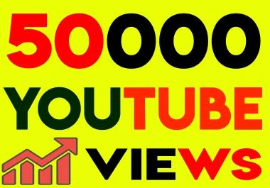Fast 50,000+ Youtube Views with Bonus likes, Timeview 60s & lifetime guarantee views
