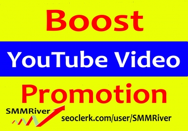 Real Audience YouTube Video Marketing Promotion