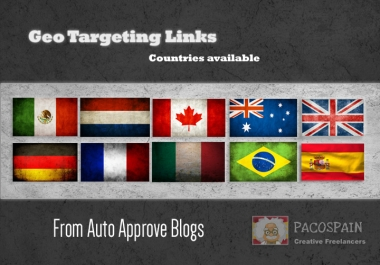 create backlinks, exclusively on country specific domains - 10 countries available.