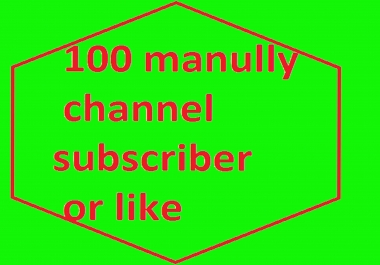 BRAND services Manually 100  channel  subscriber per link  or Real 300 likes only