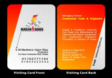PROVIDED Business card & Letterhead pad (par pair)