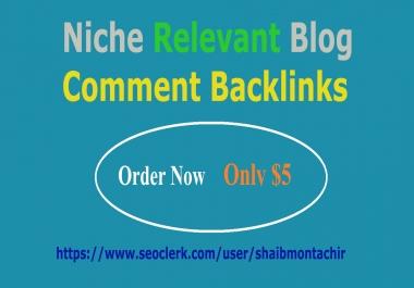 Provide 40 Niche Relevant Blog Comment Backlinks