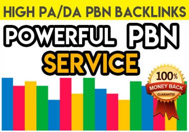 60 High DA/PA 30-55+ Dofollow HomePage PBN LINKS